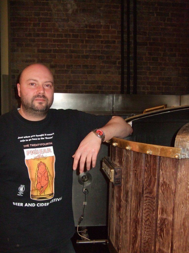 Angelo Scarnera proud of Brew Wharf and proud of Pigs Ear