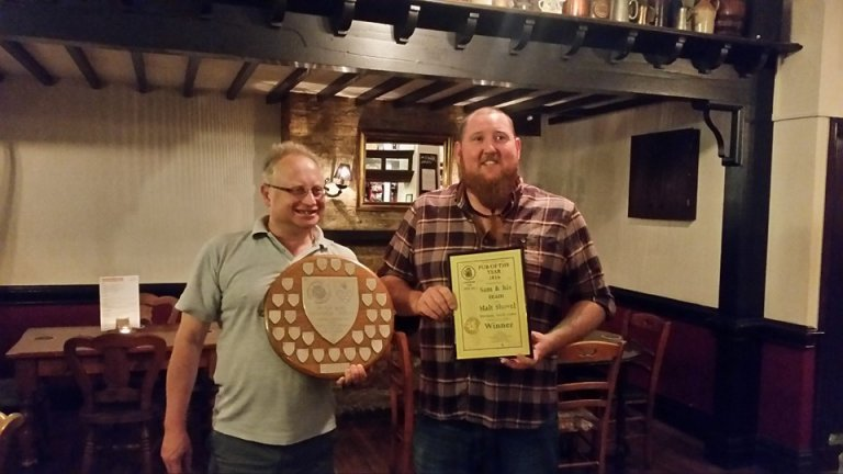 POTY presentation to malt Shovel May 16