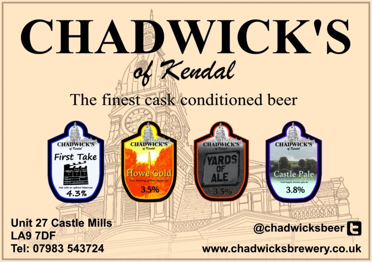 The beers of Chadwick's Brewery