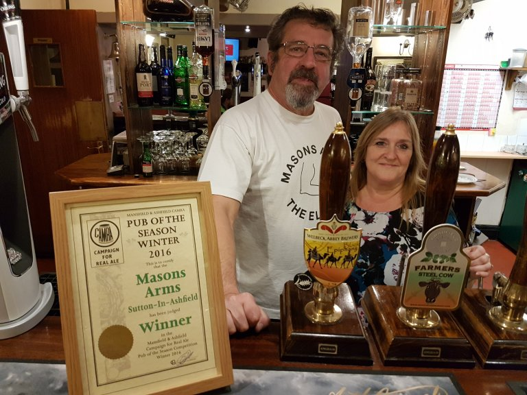 Winner : Masons Arms, Sutton-In-Ashfield.