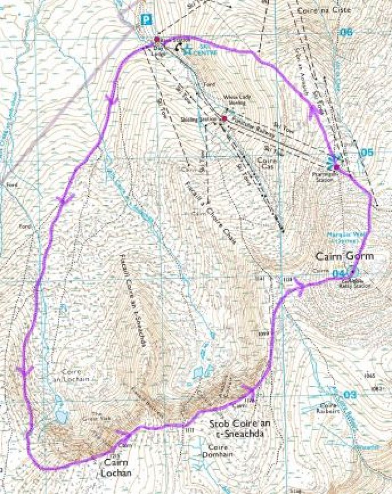 Map for Cairn Gorm Wild Pub Walk